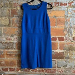 Bright blue Ann Taylor shift dress